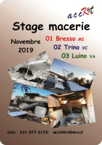 stage macerie nov. 2019